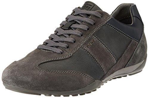Geox U Wells A, Sneakers Basses Homme Gris (Anthracite)