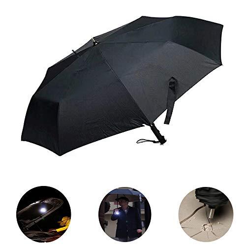 ACLBB Taktische Schirm mit LED - Flash in Leicht Umgehen, 4 Beleuchtungs - Modus, Glasfaser - Schacht, Wasserdichte Selbst Fahren 210T UV - Stoff Max Dual Entkommen Markt.
