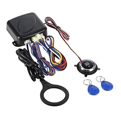 KKmoon Auto Engine Push Start Button RFID Safe Lock Zündschalter Keyless Entry Starter Anti-Diebstahl-System