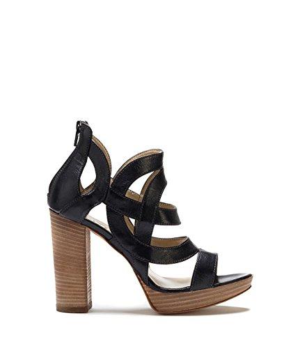 Poi Lei Damen-Schuhe Klassische Ballerinas Bonita Echtleder Schwarz -Made in Italy- h0DYY7qZd0