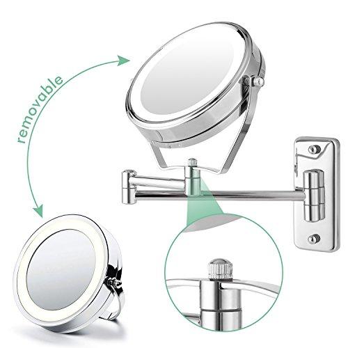 Spiegel Sonnig 5-in-1 Make-up Spiegel Led Beleuchtete Drahtlose Ladegerät Machen Up Spiegel Smart Kosmetik Spiegel Mit Handy Stehen Um Jeden Preis Schönheit & Gesundheit
