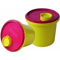 Kanülen Abwurfbehälter 2Ltr. Kanülenbox 5er Set (=5Stück) Entsorgungsbox Kanülenabwurfbehälter Tiga-Med - preisvergleich