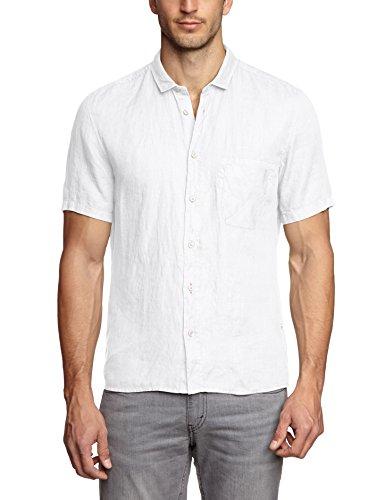 BOSS Orange Herren Freizeithemd 10169252 01, Weiß (White 100), Large (Herstellergröße: L)