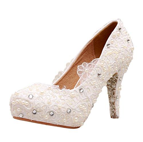 Minitoo , Semelle compensée femme Blanc - Ivory-10cm Heel