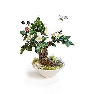 Bonsai aus kaltem Porzellan Maulbeergeschenk Handgemachtes Wohnkulturgeschenk
