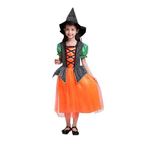 SEWORLD Baby Halloween Kleidung,Niedlich Kleinkind Kinder Baby Mädchen Halloween Kleidung Kleid Party Kleider + Hut + Tasche Outfits 5 Jahren