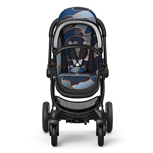 Kiddy Evostar 1 | Kompakter Tandem-Kinderwagen ab 6 Monate | Zwillingskinderwagen | Geschwisterwagen | DLX Kollektion | Urban Camo