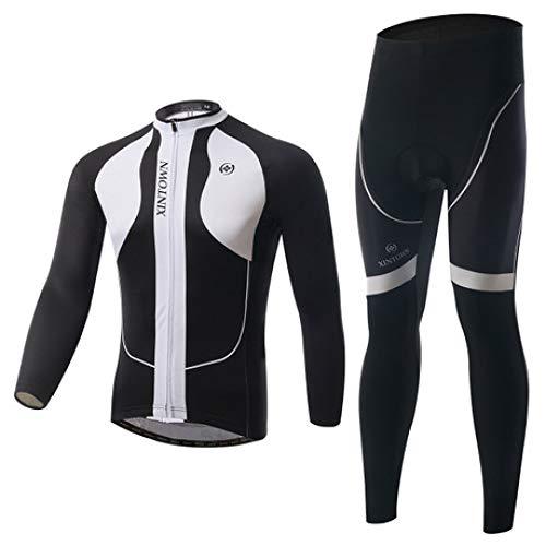 QJKai Herbst und Winter langärmeliges Jersey-Shirt für atmungsaktive Fahrradbekleidung