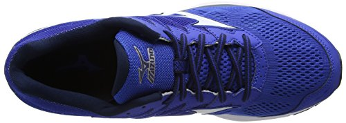 Mizuno Wave Rider 20, Chaussures de Running Entrainement Homme Bleu (Nautical Blue/white/dress Blues)