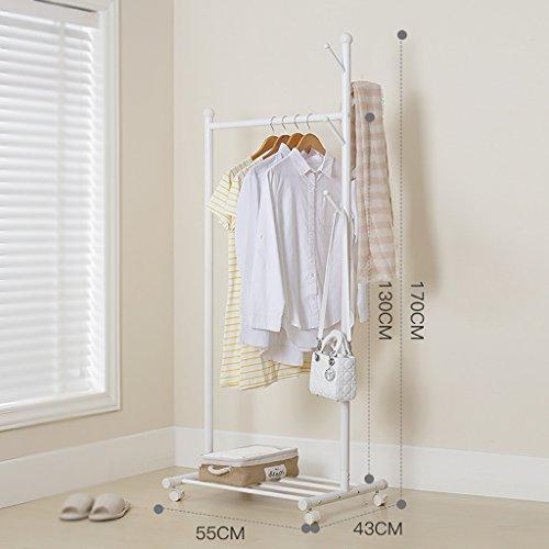 MOJ-YJ Fußboden-stehender Kleiderständer-Kleidungs-Hut-Stand-Aufhänger-Regal-Stahl dreht einzelnen Pfosten (Farbe : A)