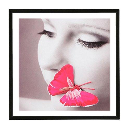 Photo Style Bilderrahmen 20x20 30x30 40x40 50x50 quadratisch Foto Rahmen: Farbe: Schwarz | Format: 30x30