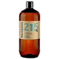 Idea Regalo - Naissance Mandorle Dolci Puro 1L – Vegan, senza OGM – Ideale per la cura della Pelle e dei Capelli, l'Aromaterapia e come olio da Massaggio di base