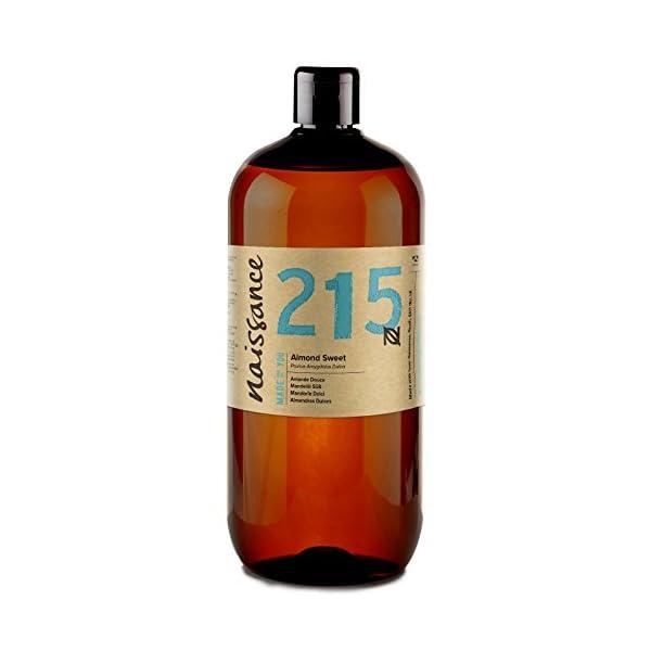 Naissance Sweet Almond Oil (no. 215) 1 Litre - Natural, Cruelty Free, Vegan, No GMO