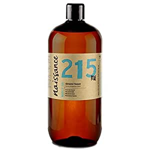 Naissance reines Mandelöl süß (Nr. 215) 1 Liter (1000ml) - Vegan, gentechnikfrei - Ideal zur Haar- und Körperpflege, für Aromatherapie und als Basisöl für Massageöle