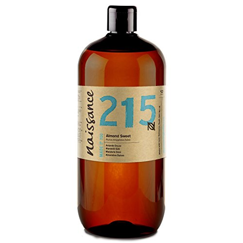 Naissance Sweet Almond Oil (no. 215) 1 Litre - Pure, Natural, Cruelty Free, Vegan, No GMO
