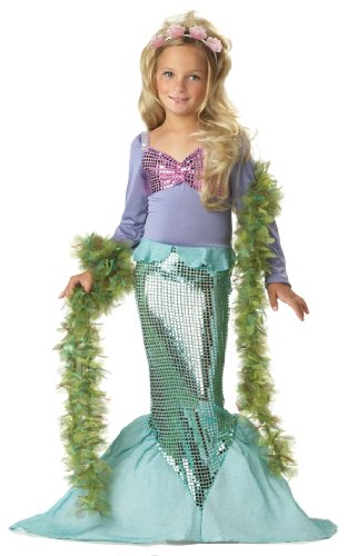 Meerjungfrau Kostüm Kinder,Littele Mermaid 00246 (Medium) (Meerjungfrau Kostüm Kid)