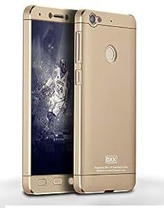 Heartly 3 Pcs Design Double Dip Hard Shell Premium Back Case Cover For Letv Le 1S / LeEco Le 1s Eco / LeEco Le 1S - Golden Gold