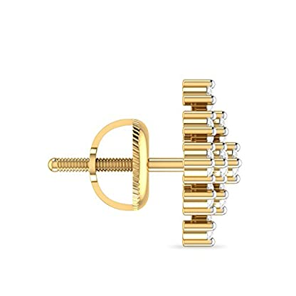 PC Jeweller The Adley 18KT Yellow Gold and Diamond Stud Earrings for Women