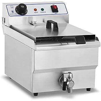 Royal Catering - RCEF-13EH - Friggitrice elettrica da 1x13 litri - 100 % acciaio inox - 3,2 kW - spedizione gratuita
