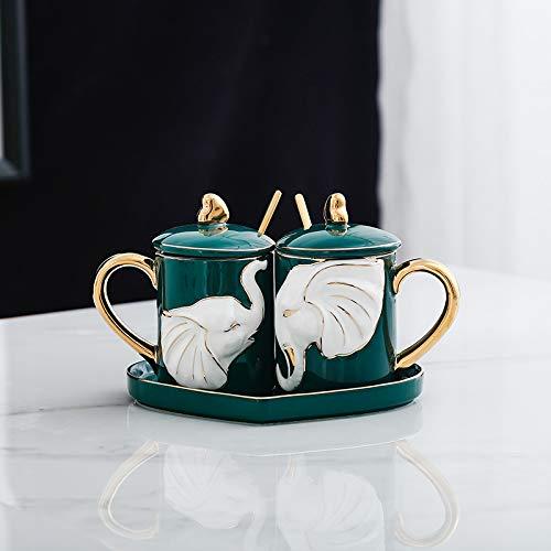Paar Geprägte Keramik Set Geschenkbox Becher Housewarminggeschenk Hochzeitsgeschenk Cup Set 12.2 cm * 9.2 cm Mögen