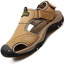 Tenthree Zapatos para Hombre Aire Libre y Deporte Sandalias Deportivas - Cuero Caminar Punta Cerrada Trekking