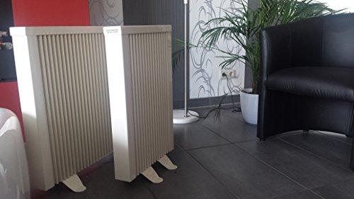 Elektroheizkörper Paketset 2 Heizungen mit je 2 Standfüßen, Elektroheizung Schnatterer
