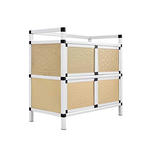 KNDJSPR Küche Lagerung Sideboard Schrank Regal Aluminiumlegierung Mikrowelle Tisch Schrank Haushalt Stehen Workstation Rack für Esszimmer Möbel Veranstalter - 79,5 * 40,5 * 76 cm (Center-insel-küche)