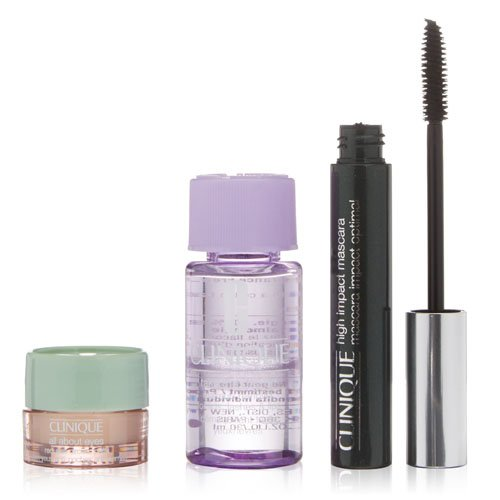 Clinique High Impact Mascara Set plus Eyeliner und Gesichtentferner, 1er Pack (1...