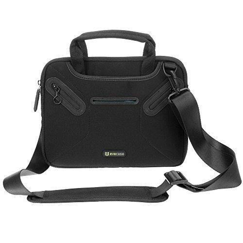 """Notebooktasche 10.1"""", Evecase 10.1 Zoll Universal Laptop Schutzhülle Aktentasche mit Neopren Außenmaterial, Verdeckbare Griffe, Zubehörfächer für Notebook MacBook Ultrabook Tablet Lenovo Asus Acer - Schwarz"""