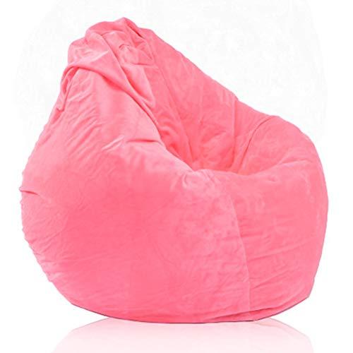 BeanBag Sitzkissen Lustig Bedruckte Gaming Sitzsack mit Füllung Außensitzsack Hohem Rückenteil Erwachsene und Kinder Sitzsäcke Relax Game Möbel 100 x 120 cm,Rosa