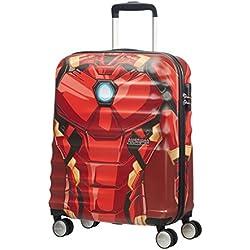 American Tourister Disney Wavebreaker - Maleta Cuatro Ruedas 55 Marvel - 2.6 kg, 36 L, Iron Man Close-Up