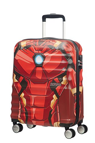 American Tourister Disney Wavebreaker - Maleta Cuatro Ruedas 55 Marvel - 2.6 kg, 36 L, Iron Man Close-Up