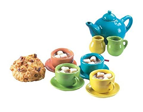 Small World Toys Living–C'est une fête en porcelaine 12-pc miniature Ensemble à thé