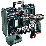 Metabo 600385870 POWERMAXX SB Basic Set (600385870) Akku-Schlagbohrmaschine I mit Ladegerät LC40 und Kunststoffkoffer I 2X10.8V/2AH LI-Ion Akku
