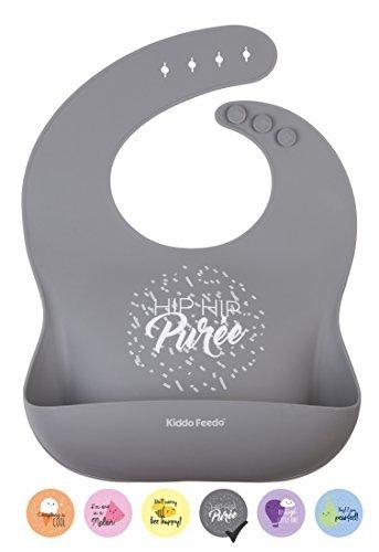 KIDDO FEEDO Babero Recogedor Impermeable - 6 Colores/Diseños