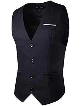 Zhhlaixing Respirable Men's Business Formal Casual Blazer Jacket Waistcoat Jacket