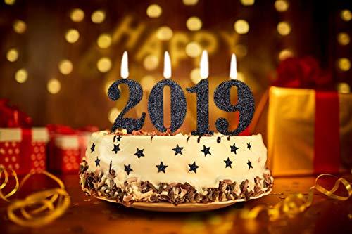 Decorazioni Sala Capodanno : Candele oro nero glitter decorazioni set torta candeline