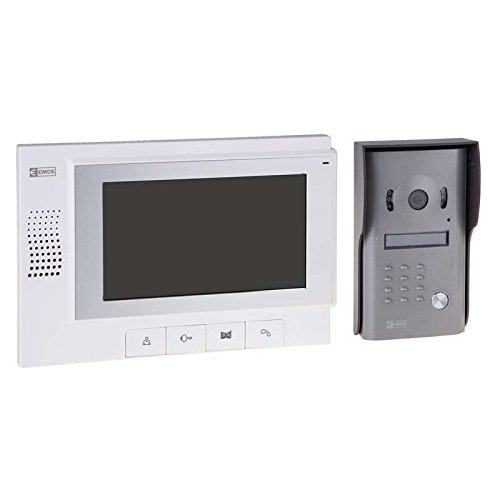"Emos H1011–telefonillo (7""LCD TFT, 182x 55x 107mm, Aluminium, white)"