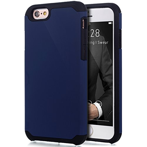 iPhone 6S Hülle,iPhone 6 Hülle,iPhone 6 / 6S TPU Silikon Hülle,ikasus® [Heavy Duty Serie] Hybrid Outdoor Dual Layer Armor Hülle Case Handy Schutzhülle für Apple iPhone 6 / 6S (4,7 Zoll) Silikon Hülle  Blau