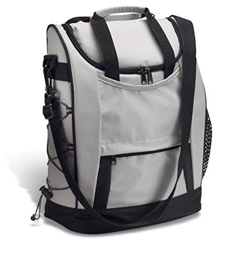 Kühltasche grau-schwarz mit Außentasche für Öffner und wichtige Kleinigkeiten REFLECTS MOSSORÓ