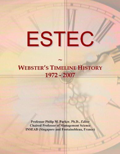 ESTEC: Webster's Timeline History, 1972-2007