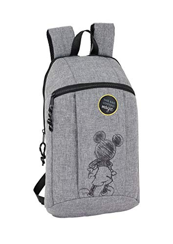 "Safta - Mickey Mouse ""Multiply"" Oficial Mini Mochila Uso Diario 220x1"