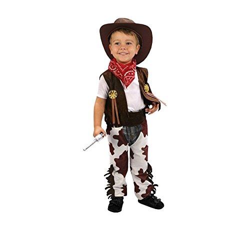 Imagen de disfraz de vaquero marrón y blanco 3 4 años niño