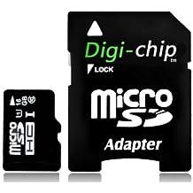 Digi-Chip HIGH SPEED 16 GB microSD-Speicherkarte, UHS-1 CLASS 10, für SAMSUNG GALAXY NOTE 1717, 3 S4 S 4 4G, MINI S3 S 3 MINI, Y S5360, M PRO B7800, GT-N7000 oder i9220