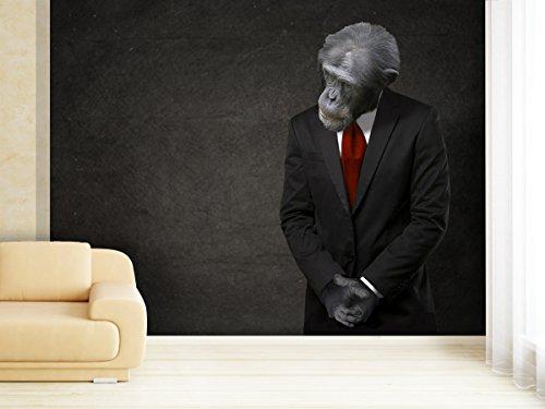 Fototapete Business Monkey - weitere Größen und Materialien wählbar - DEUTSCHE PROFI QUALITÄT von (Monkey Kostüme Business)