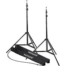 Neewer® Soporte Tripode de luz para fotografía en estudio de 7 pies / 210cm de alto y de aleación de aluminio para vídeo, retrato y fotografía de iluminación, reflectores, softboxes, parasoles, fondos (2)