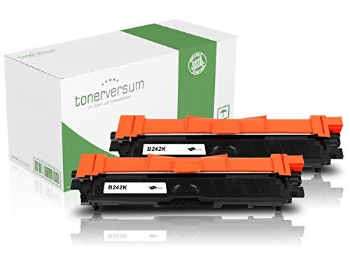 2 Toner kompatibel zu Brother TN-242 TN-246 Schwarz Druckerpatrone für MFC-9332cdw HL-3152cdw DCP-9017cdw MFC-9142cdn MFC-9342cdw HL-3172cdw HL-3142cw DCP-9022cdw Laserdrucker TN-242BK