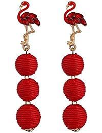 003e904d2419 CAOLATOR Pendientes Borla Flamencos Pendientes Mujer de Moda Decoración del  Partido Aretes para el Accesorios de