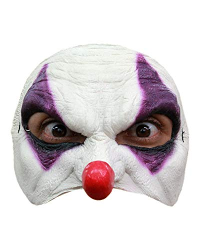 Horror-Shop Clown Halbmaske ()