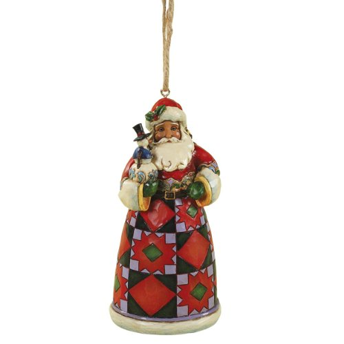 Enesco Heartwood Creek Babbo Natale a Sospensione, Pvc, Multicolore, 5x6x12 cm - Enesco Natale